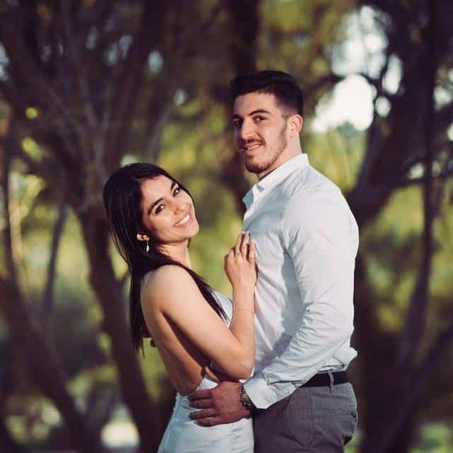 לינוי ורותם ביום צילומים בחתונתם